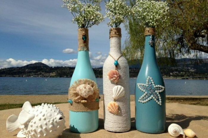 Декор бутылок — инструкции по декору бутылок разными техниками. Виды необходимых материалов и инструментов (фото + видео)