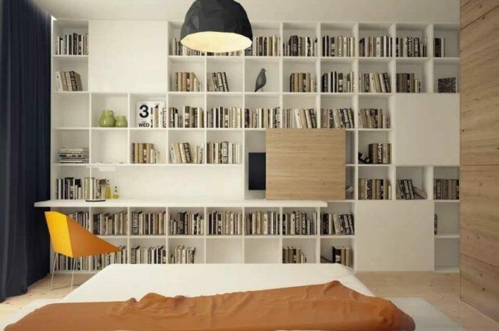 Книжный шкаф — необходимость использования книжного шкафа. Разновидности конструкций, размеров и форм. Материалы книжных шкафов (фото + видео)