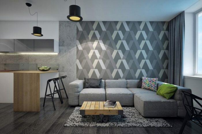 Обои серого цвета: особенности использования серого цвета обоев. Выбор мебели, отделки и освещения под серые обои. Фото и видео идеи дизайна
