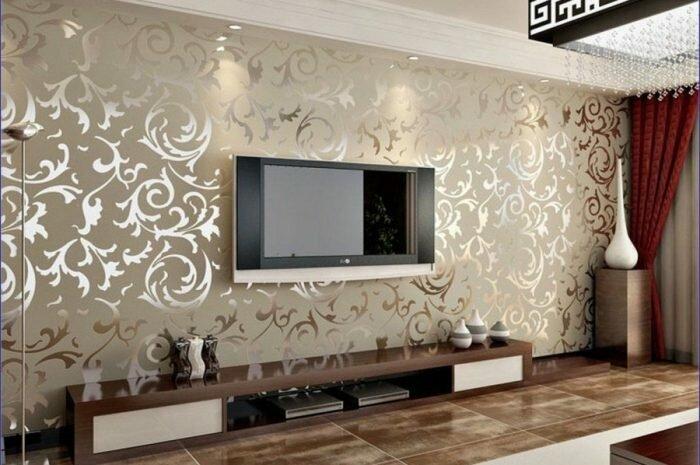 Обои в зал: ТОП-140 фото и видео идеи дизайна обоев в зал. Варианты расцветки, рисунков и узоров. Подбор обоев под стилистику интерьера